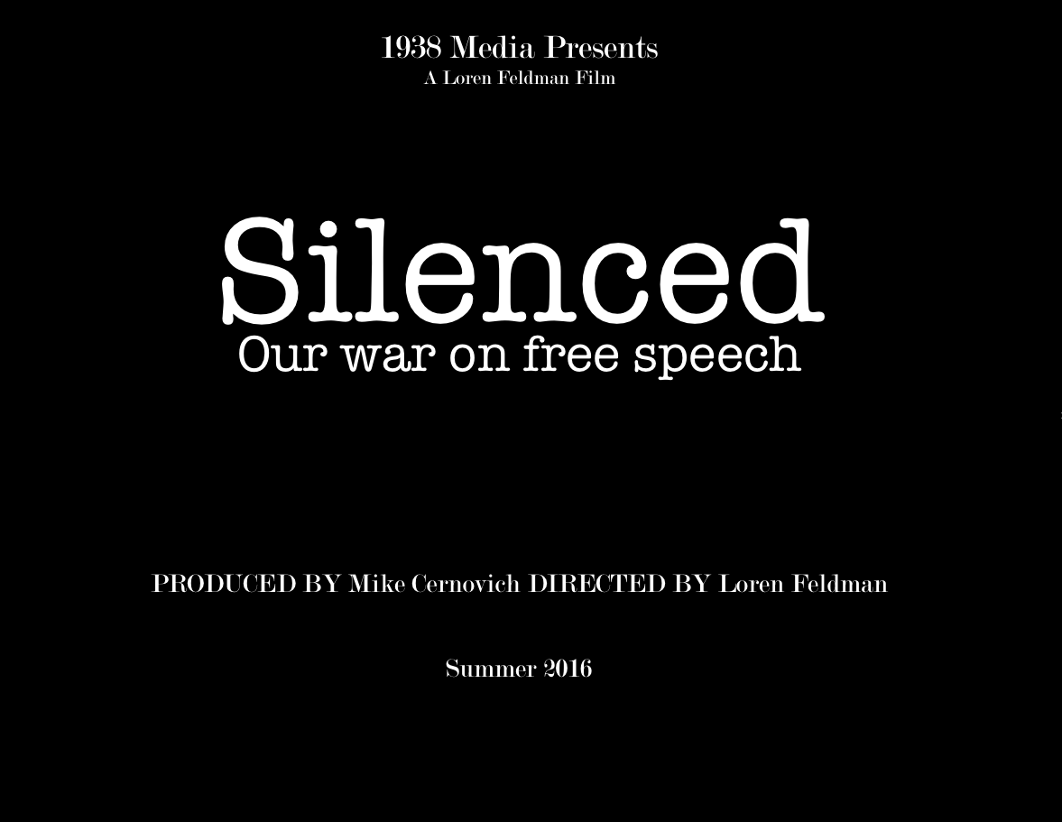 Silenced: Our War on Free Speech film title page