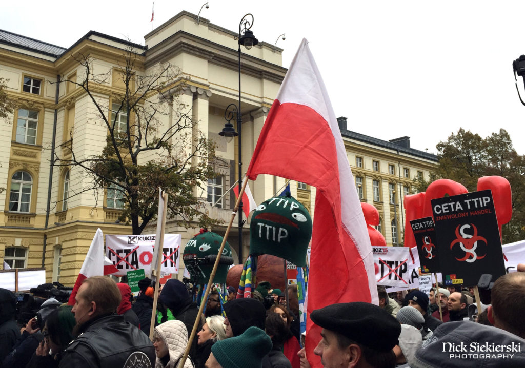 Anti-TTIP and CETA protest in Warsaw, October 15, 2016