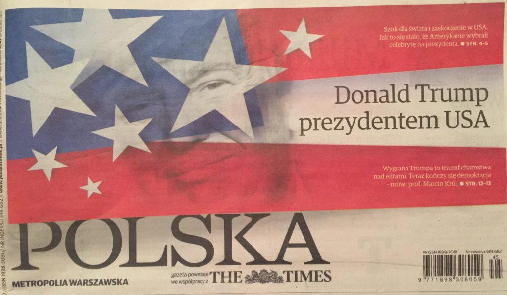 Polska The Times Donald Trump President