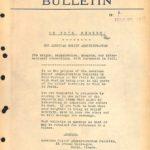 A.R.A. Bulletin #1, March 17, 1919
