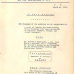 A.R.A. Bulletin #2, March 24, 1919
