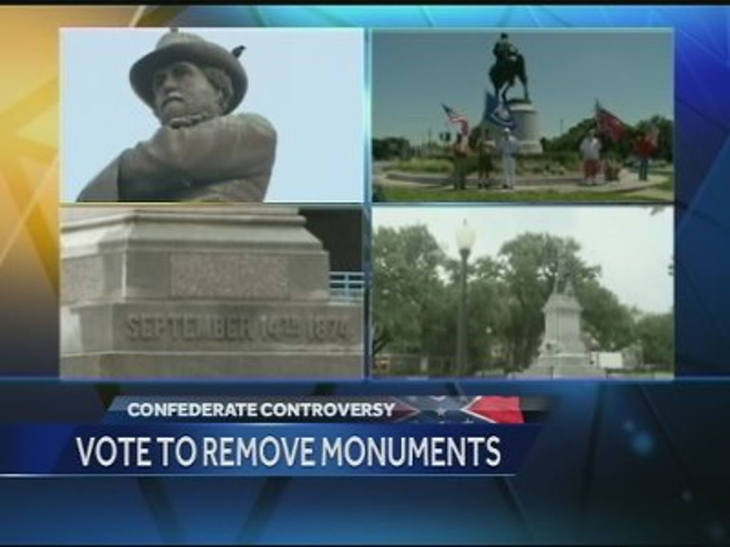 collage of confederate monument images in New Orleans