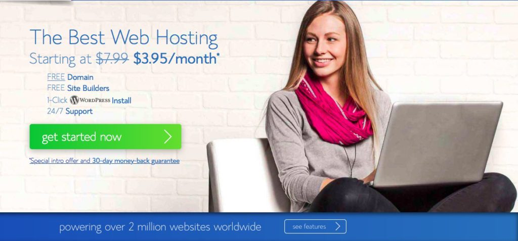 Bluehost sales screen
