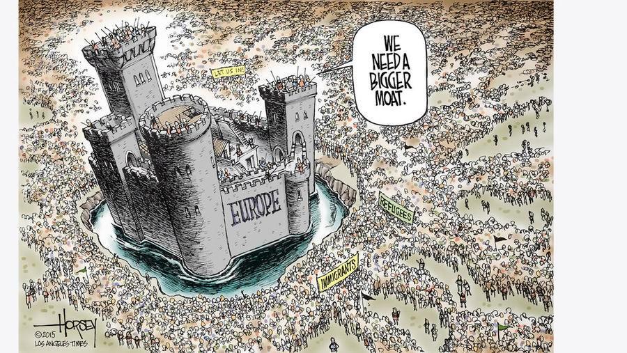 Europe invasion cartoon