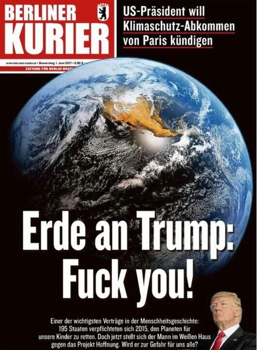 Berliner Kurier fuck Trump cover
