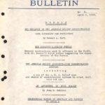 A.R.A Bulletin #4 April 8, 1919