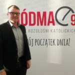 Me at the Śiodma-Dziewiąta (Seven to Nine) radio program studio